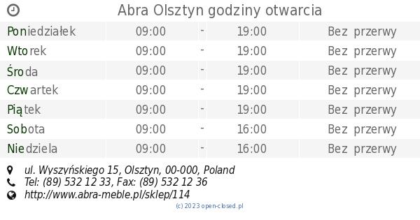 Sklep Abra Olsztyn, ul. Wyszyńskiego 15